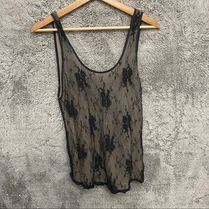 Aritzia Wilfred Oversized Lace Tank Top